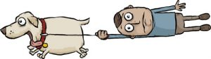 cartoon-of-dog-pulling